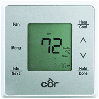 Côr 5 Thermostat Model TSTPHA01